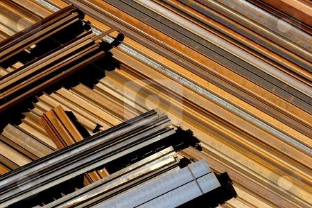 Rusting steel stock photo, Horizontal rusting steel by Mark Yuill
