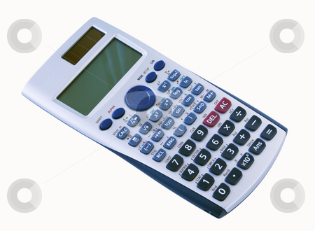 Algebra calculator isolated with a clipping path stock photo, An algebra calculator isolated with a clipping path by RCarner Photography