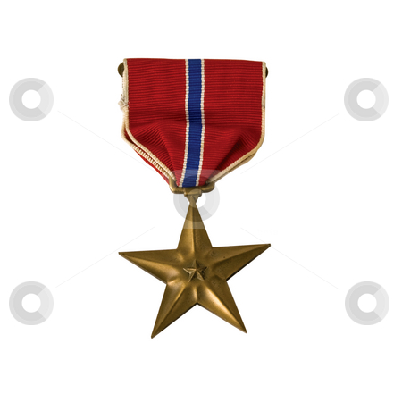 An American Bronze Star stock photo, A Bronze star awarded for valor in action isolated with a clipping path by RCarner Photography