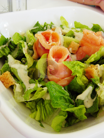 A bowl of salad stock photo,  by Derek Tan