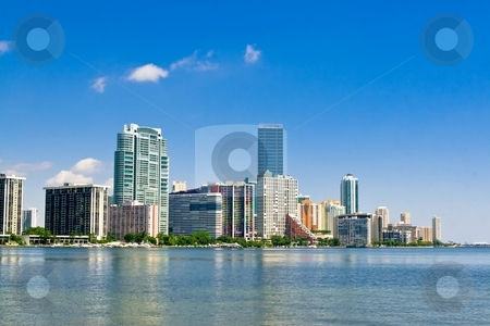 Miami Skyline stock photo, Miami skyline view from Key Biscayne by Jose Wilson Araujo