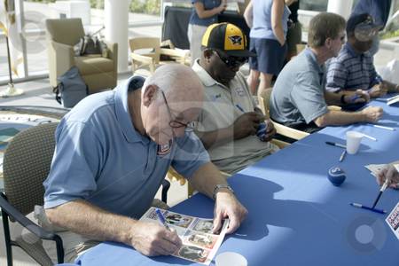 Harmon Killebrew  stock photo, August 6, 2003 :  Major league baseball hall off famer Harmon Killebrew visited Naval  Hospital Kitsap with fellow major leaguers on the heroes world tour talking to military troops in Bremerton, Washington. by Jesse Beals