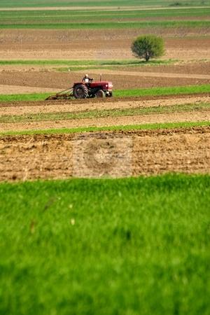 Farm land stock photo, Rural landscape by Mark Yuill