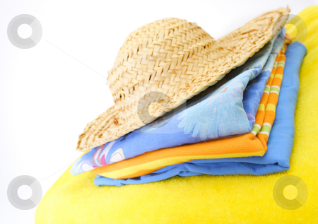 Summer clothes stock photo, Summer beach clothes by Mark Yuill