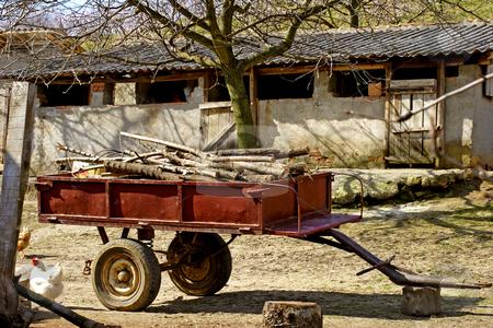 Farm yard stock photo, Traditional farm yard by Mark Yuill