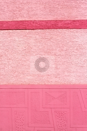 Pink wall stock photo, Pink painted wall by Mark Yuill