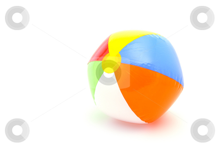 Beach ball stock photo, Beach ball on white background by Mark Yuill