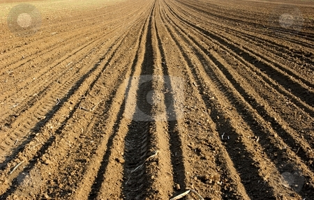 Field stock photo, Ploughed field by Mark Yuill