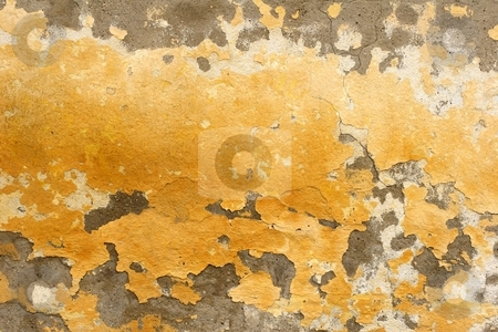 Flaking paint stock photo, Flaking paint on wall by Mark Yuill