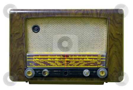 Vintage Radio stock photo, Old Vintage Radio isolated on white by Paulo Resende