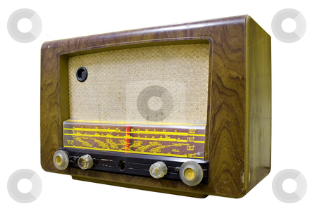 Vintage Radio stock photo, Old Vintage Radio isolated on white by Paulo Resende