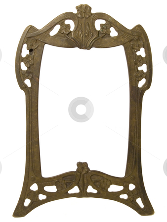 Old frame stock photo, Old metal frame with path inclued by Paulo Resende