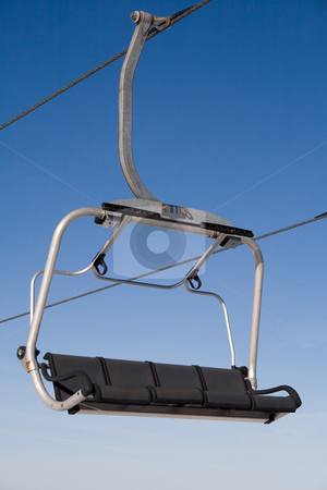 Chair lift  stock photo, Chair lift in winter resort by Paulo Resende