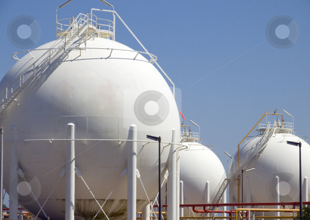 Big round container  stock photo, Detail from very big round containers of fuel by Paulo Resende