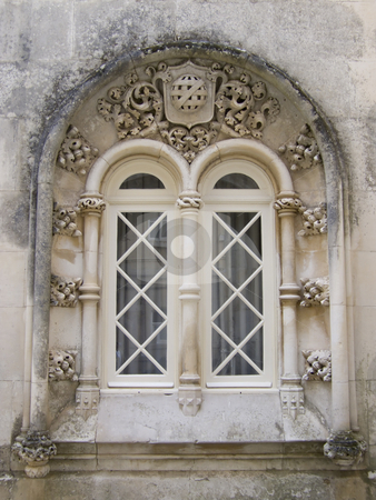 Gothic window stock photo, Gothic window from old palace in Portugal by Paulo Resende