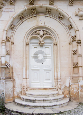 Gothic Door stock photo, Gothic door from old palace in Portugal by Paulo Resende