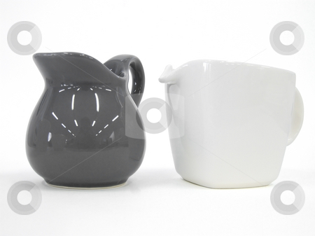 Teapot and Milk Pot isolated  stock photo, Teapot and Milk Pot isolated with path by Paulo Resende