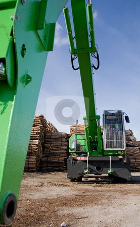 Woodcutting stock photo, Woodcutting tractor by Paulo Resende