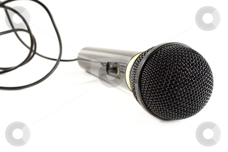 Microphone stock photo, Microphone isolated on white by Paulo Resende