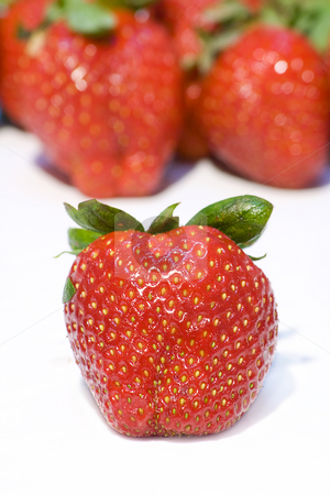 Strawberry stand on front  stock photo, Strawberrys background - Strawberry stand on front by Paulo Resende