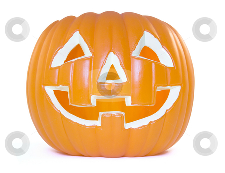 Jack o lantern stock photo, Plastic Jack o lantern for the halloween by Paulo Resende