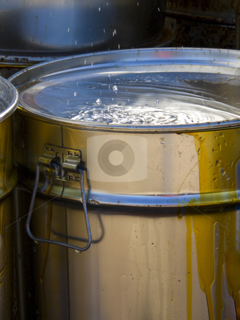 Toxic waste stock photo, Toxic waste barrels by Paulo Resende