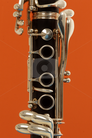 Clarinet stock photo, Close up detail of a woodwind clarinet by Mark Yuill