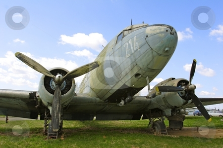 Dakota DC3 stock photo, Abandoned Dakota DC3 aircraft by Mark Yuill