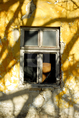 Old window stock photo, Old window with shadows by Mark Yuill