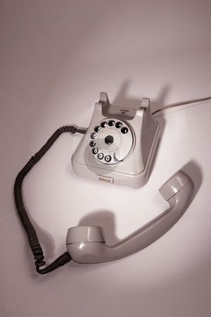 Old telephone stock photo, Old telephone by Mark Yuill