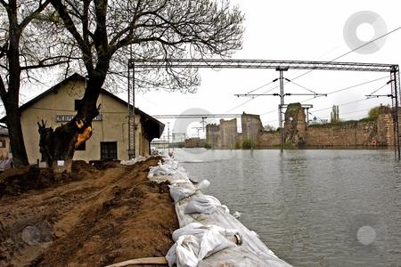 Flooded railway stock photo, Flooded rail yard Smedrevo Serbia by Mark Yuill