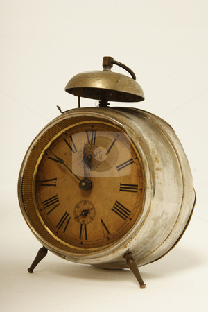 Old alarm clock stock photo, Old broken clock by Mark Yuill