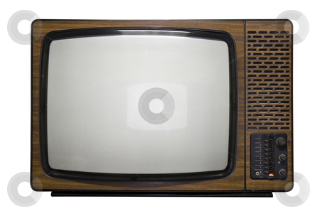 Retro Tv stock photo, Old fashin retro tv by Paulo Resende