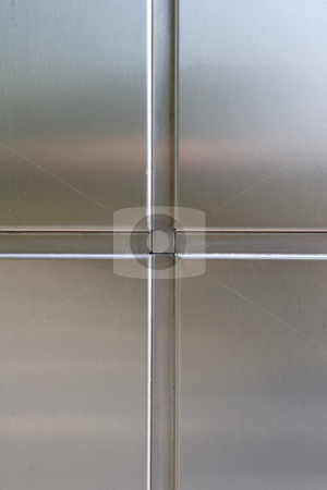 Stainless steel panels stock photo, Stainless steel panels in strenghened security door by Mark Yuill