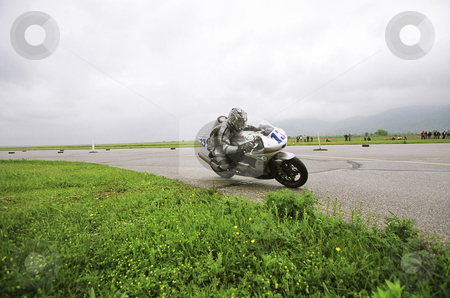 Motorcycle racing stock photo, Motorbike racing by Mark Yuill