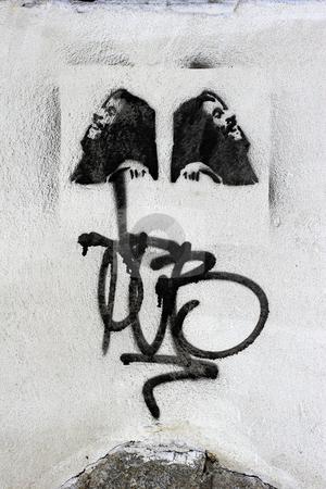Stencil graffiti stock photo, Stencil graffiti by Mark Yuill
