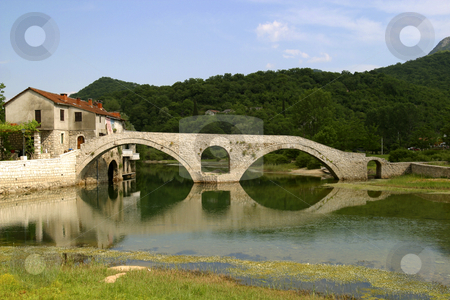Stone bridge in montenegro stock photo, Old stone bridge in montenegro by Mark Yuill