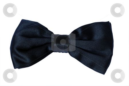 Black Bow Tie stock photo, Black Silk Bow Tie by Will Burwell