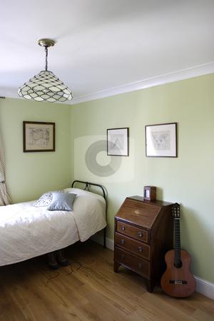 Bedroom interior stock photo, Bedroom interior by Mark Yuill
