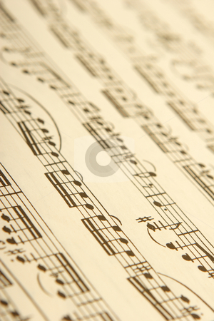 Classical sheet music stock photo, Classical sheet music for woodwind and string instruments by Mark Yuill