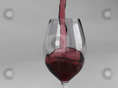 Pouring Red Wine stock photo, Red wine pouring into wine glass. by Gregory Dunn