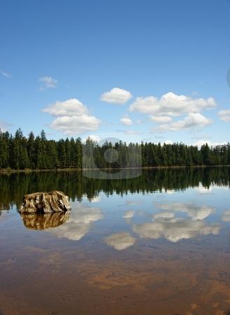 Lake stock photo, So. Twin Lake by Harold Johnson