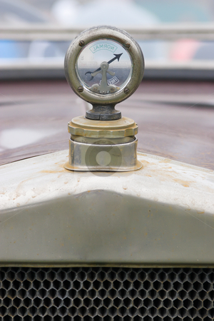 Vintage Thermostat stock photo, A vintage vehicles external temperature gauge by Nicholas Rjabow