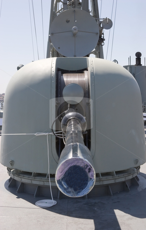 Naval Gun stock photo, A warships weaponry by Nicholas Rjabow