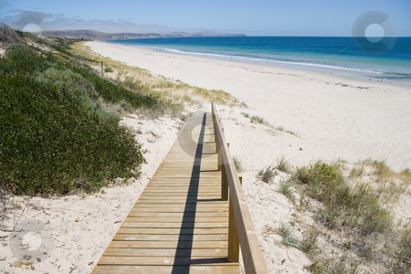 Ramp to Beach stock photo, Ramp to a deserted beach by Nicholas Rjabow