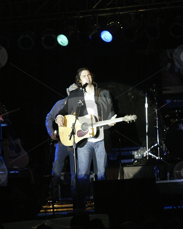 Joe Nichols 3 stock photo, August 26, 2004:  Country music recording artist Joe Nichols performed on stage at the Kitsap County fair in Bremerton, Washington. by Jesse Beals