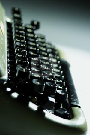 Old typewriter stock photo, Closeup of old typewriter by Mark Yuill