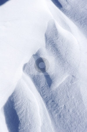 Fresh powder snow stock photo, Close up of a powder snow drift by Mark Yuill