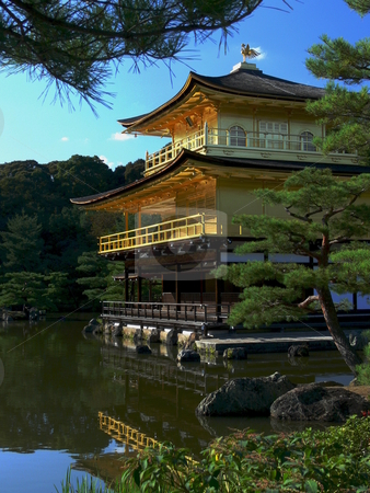 Golden Pavilion Temple stock photo, The Golden Pavilion Temple. Kyoto, Japan by Martin Darley