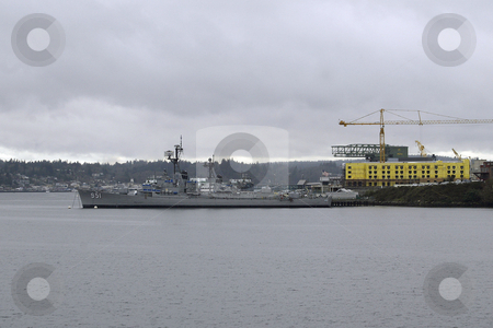 USS Turner Joy stock photo, March 16, 2004:  The USS Turner Joy is tide down in Bremerton, Washington as a tourist boat for people to tour.  The ship is no longer in use for the the US Navy. by Jesse Beals